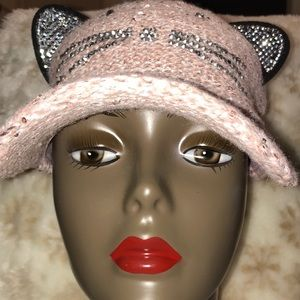 NEW Pink Cat Ear and whiskers Hat